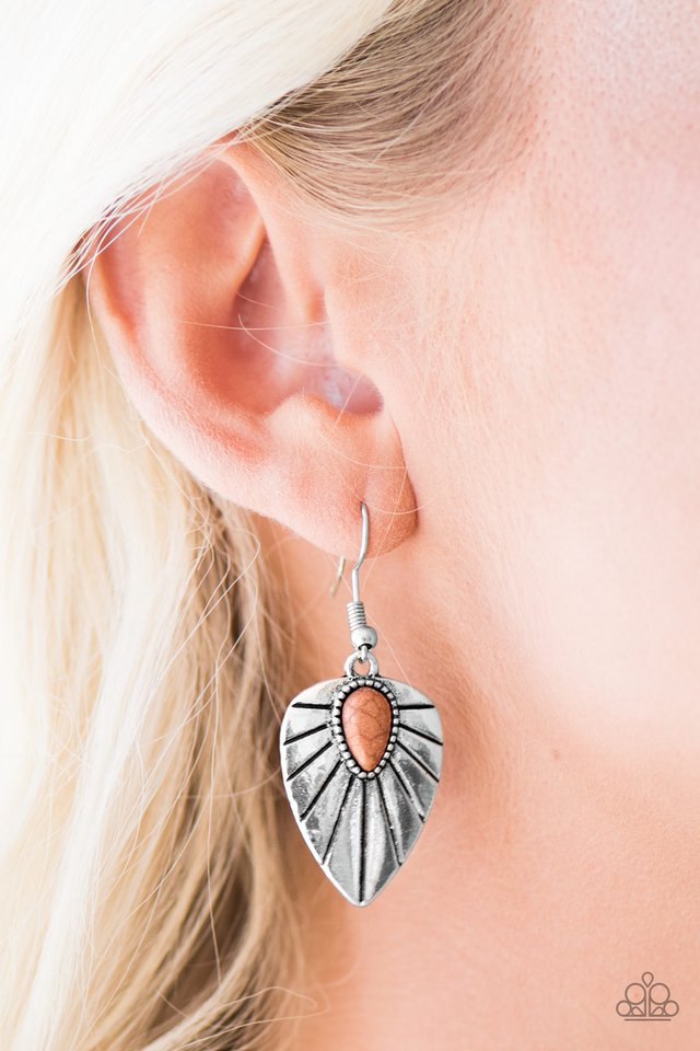 Wild Palms - Brown - Paparazzi earrings