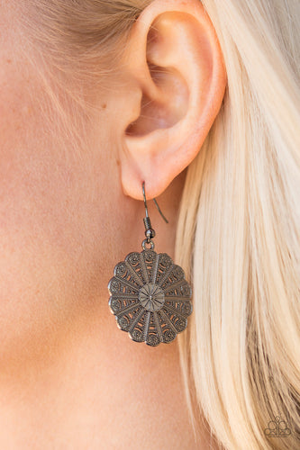 Wildflower Wonder - Black - Paparazzi earrings