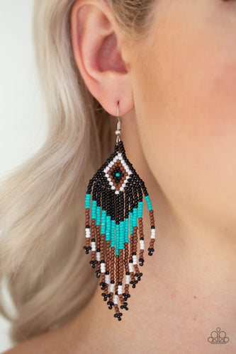 Wind Blown Wanderer - blue - Paparazzi earrings