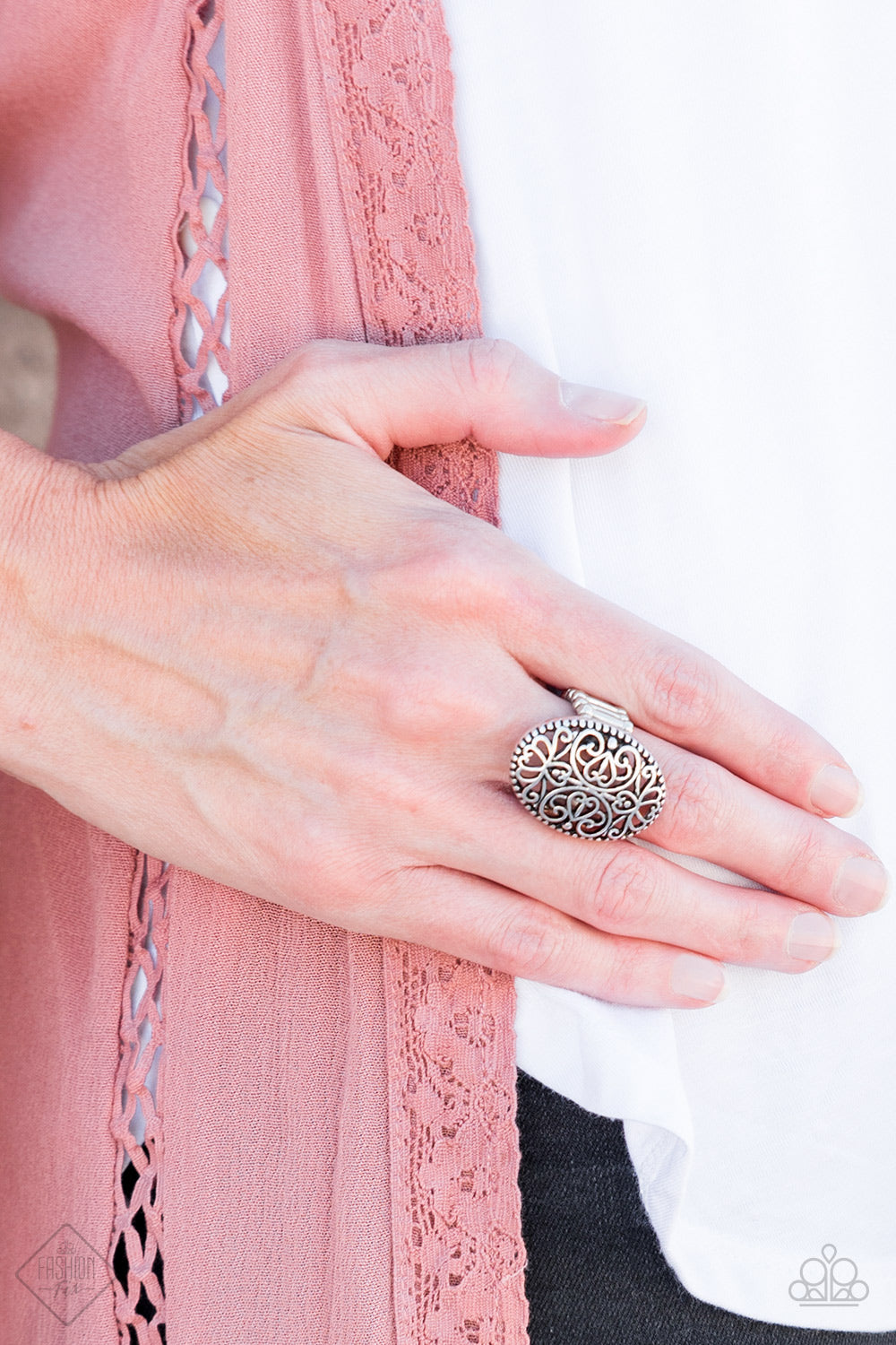 Wistful Wishes - silver - Paparazzi ring