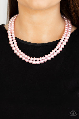 Woman of the Century - pink - Paparazzi necklace