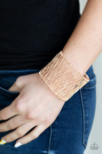 Work for Wire-rose gold-Paparazzi bracelet