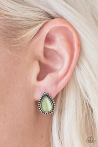 Wouldnt GLEAM of It - green - Paparazzi earrings