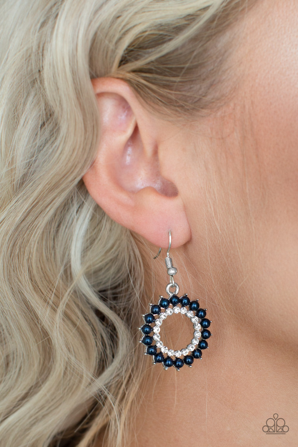 Wreathed in Radiance - blue - Paparazzi earrings