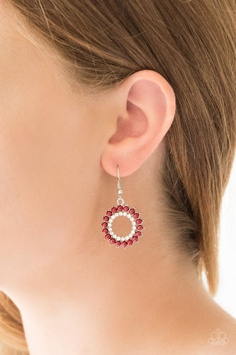 Wreathed in Radiance - red - Paparazzi earrings