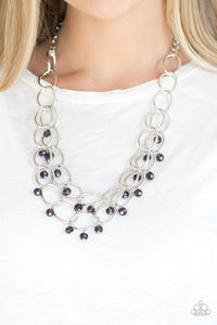 Yacht Tour - purple - Paparazzi necklace