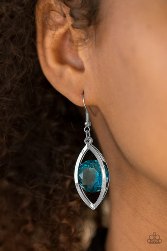 Your Eyes Only - blue - Paparazzi earrings