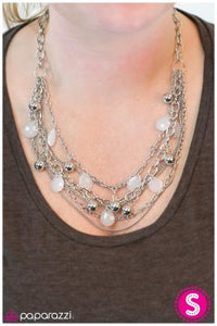 Cut and Run - white - Paparazzi necklace