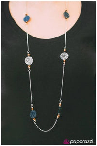 Deep in the Woods - blue - Paparazzi necklace