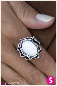 Now You See It - white - Paparazzi ring