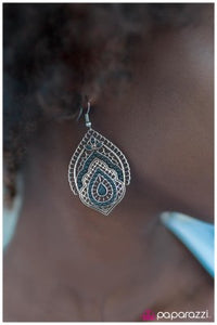 Persian Gardens - blue - Paparazzi earrings