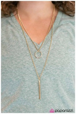 Plain as Day - gold - Paparazzi necklace