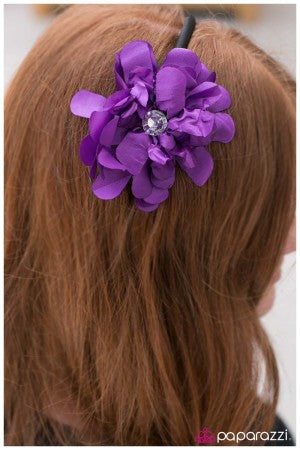 Radiant Rustling - Purple - Paparazzi Jewelry headband