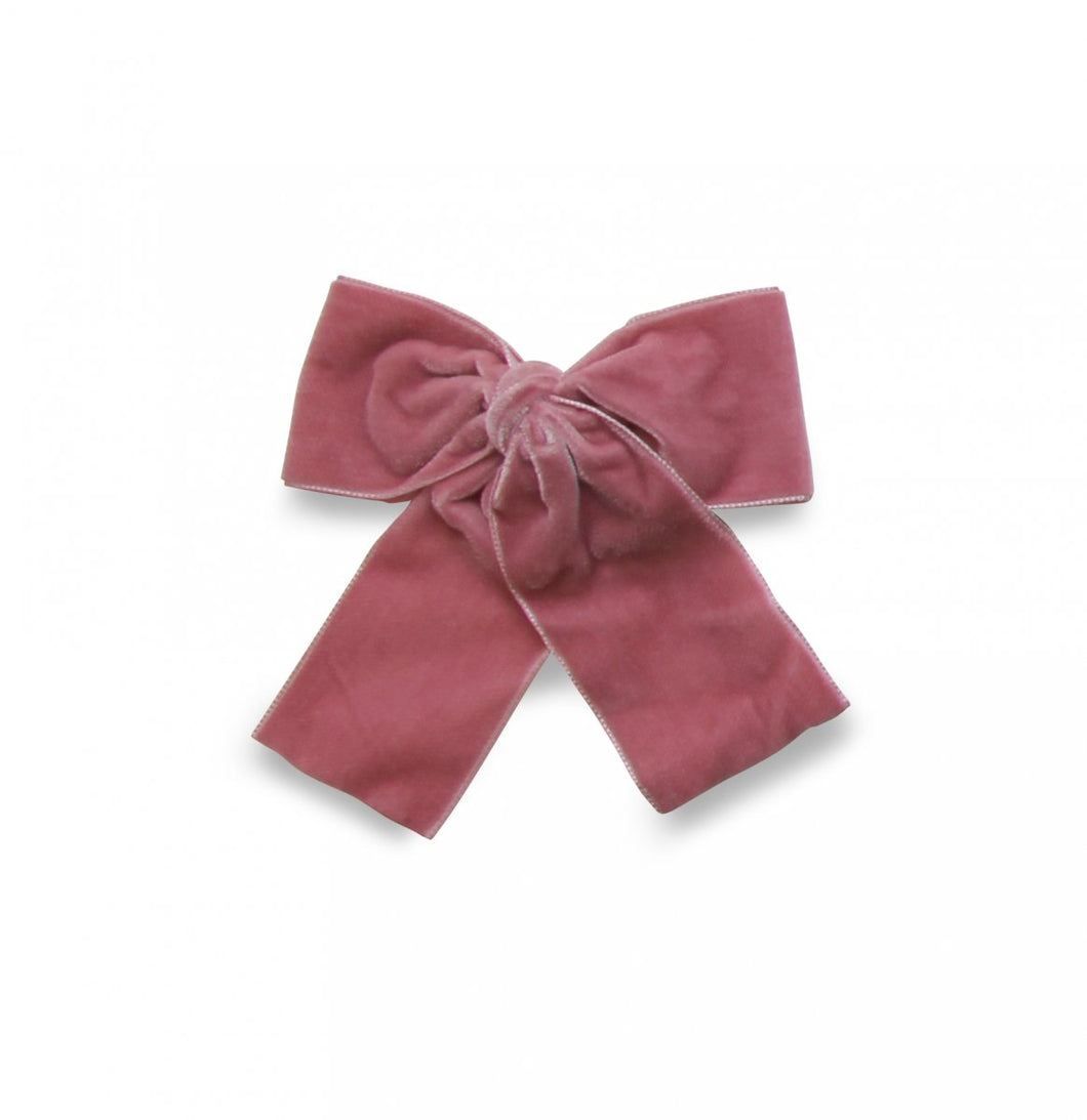 LEMON HAIR LOVERS / DUSTY PINK VELVET BOW L
