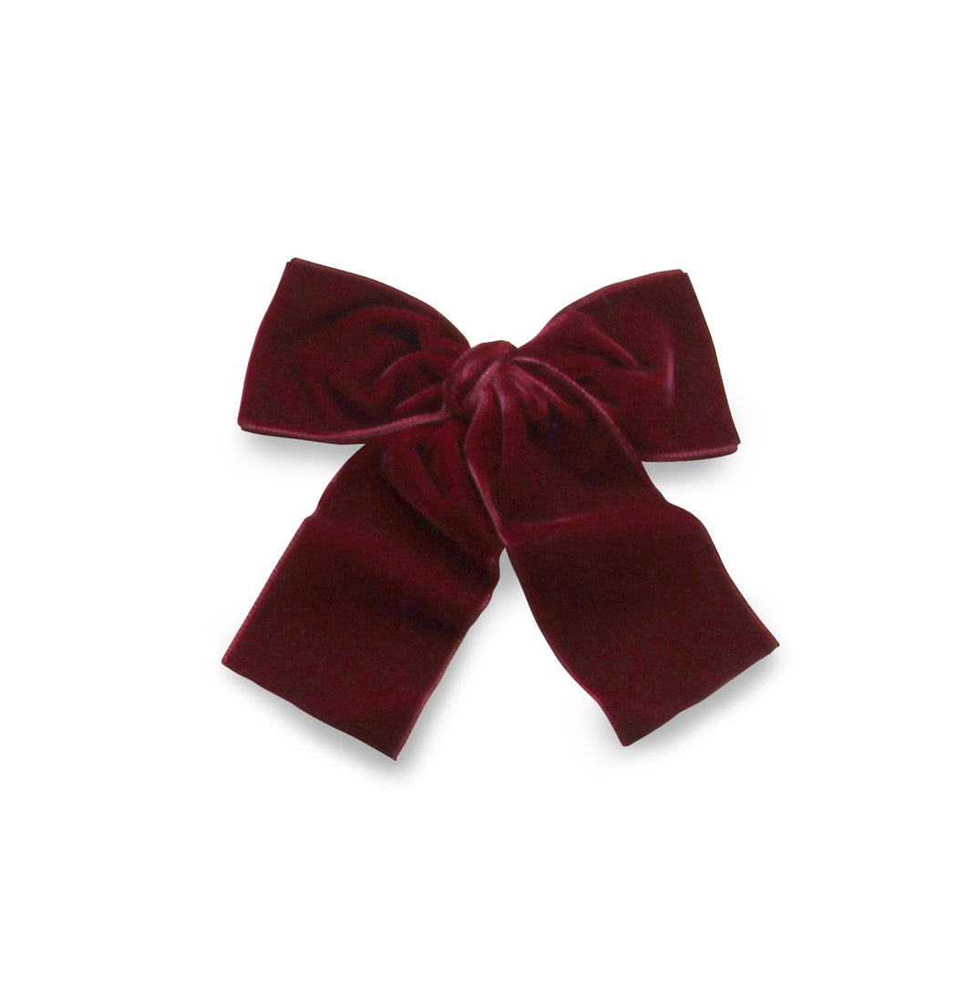 LEMON HAIR LOVERS / BORDEAUX VELVET BOW L