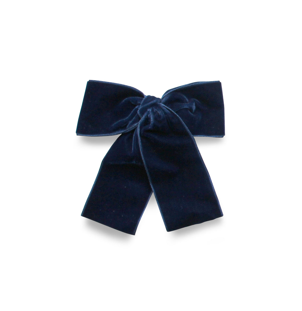 LEMON HAIR LOVERS / DARK BLUE VELVET BOW MINI
