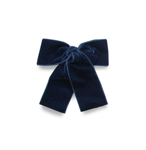LEMON HAIR LOVERS / DARK BLUE VELVET BOW M