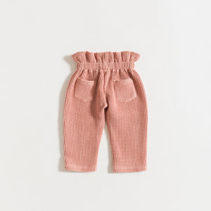 TROUSERS / ROSE HONEYCOMB