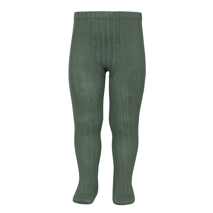 CÓNDOR / LICHEN GREEN RIBBED TIGHTS