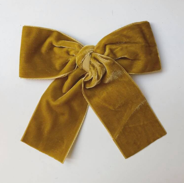 LEMON HAIR LOVERS /  VELVET MUSTARD BOW MINI