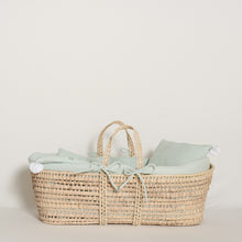 Load image into Gallery viewer, moses-basket-set-home-green-water-white-colour-2