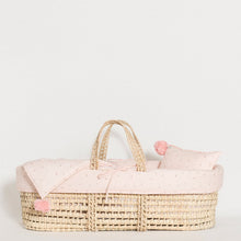Load image into Gallery viewer, moses-basket-little-pink-flowers-grace-baby-and-child-newborn-side