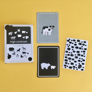 High Contrast Animal Flash Cards
