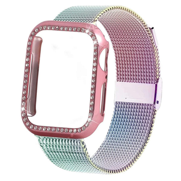 Bling case +  Milanese loop bracelet for Apple Watch - WatchBand Co