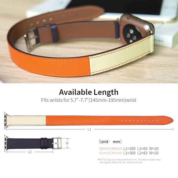 Double Tour For Apple Watch Band - Dual Color - WatchBand Co
