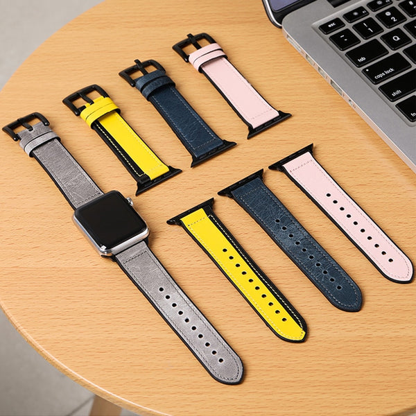 Silicone & Genuine Leather Apple Watch Band - WatchBand Co