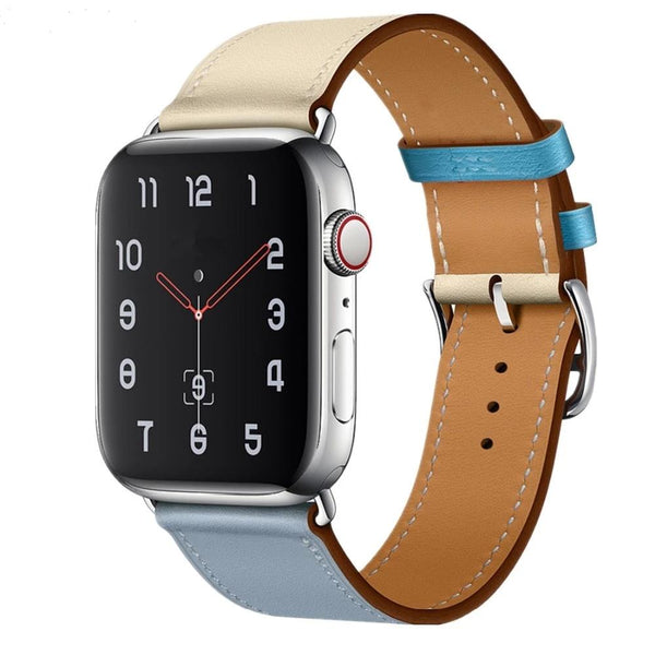 Leather Strap For Apple Watch Band - Dual Color - WatchBand Co