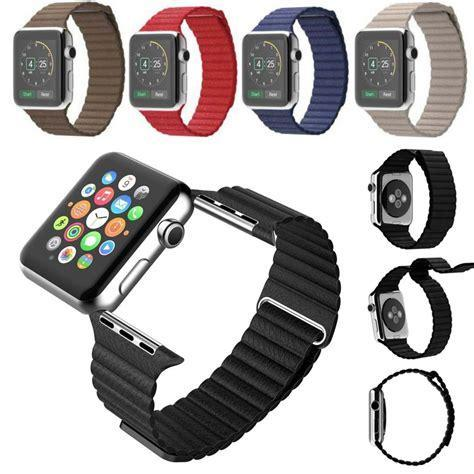 Leather Loop Apple Watch Band with magnetic clasp - Multiple colors - WatchBand Co