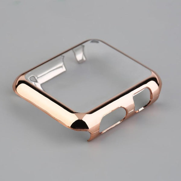 Super slim metal plated hard cover case for Apple Watch - WatchBand Co
