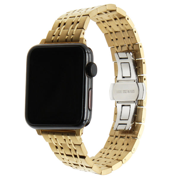 9 Pointer Stainless Steel Apple Watch Band with adapters - Multiple colors - WatchBand Co