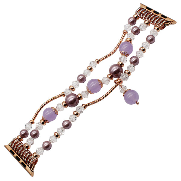 Agate bead bracelet watch band - Multiple designs and colors