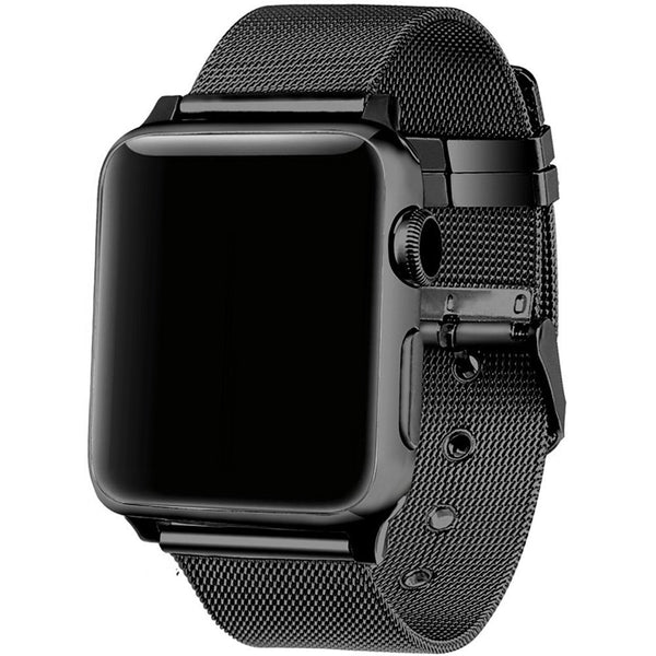 Milanese loop with steel buckle - Multiple colors