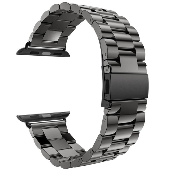 Stainless steel watch strap with buckle clasp - Multiple colors