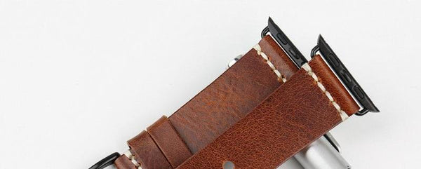 Greased leather watch strap - Multiple colors