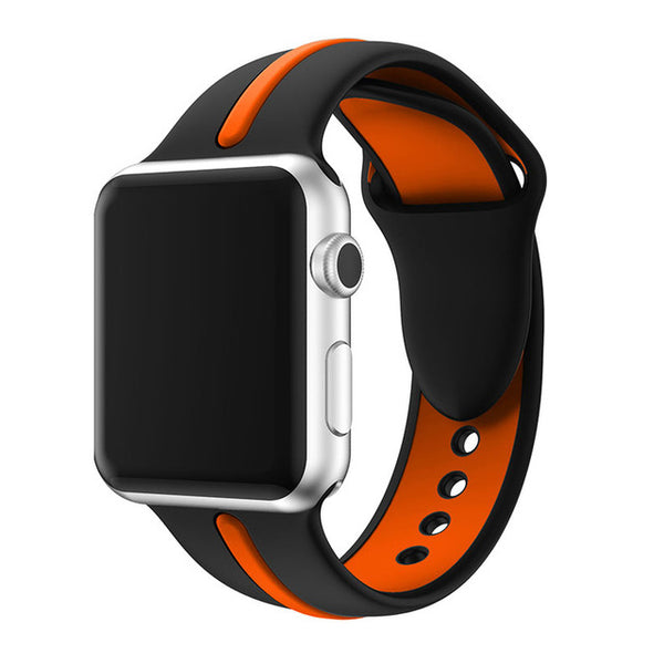 Sport Silicone Dual Color Apple Watch Band - Multiple color combinations - WatchBand Co