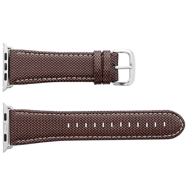 Leather strap with multiple patterns (incl. Leopard pattern) and textures