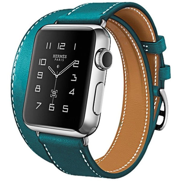 Double Tour Genuine Leather Apple Watch Band- Multiple colors - WatchBand Co