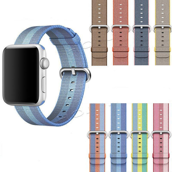 Woven Nylon Apple Watch Band - Multiple colors and patterns - WatchBand Co