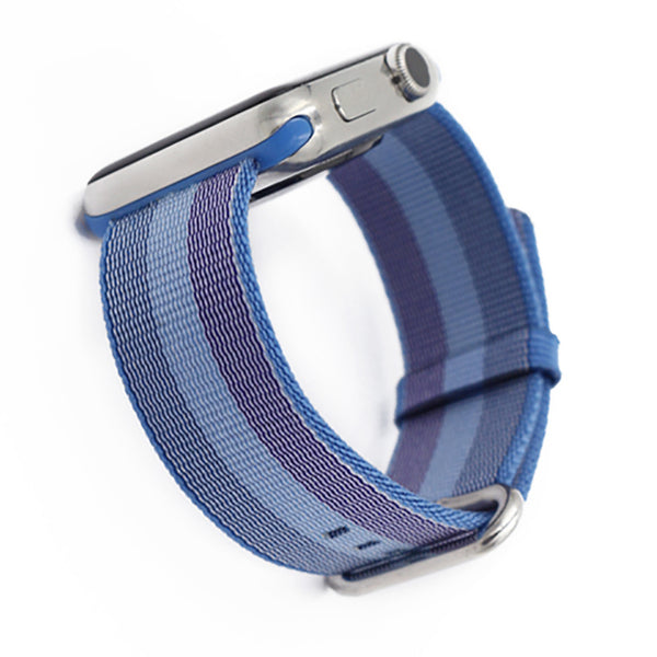 Woven nylon band with classic steel buckle - Multiple colors and patterns