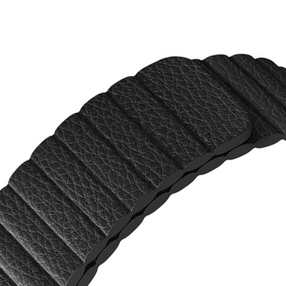 Leather loop watch band with magnetic clasp - Multiple colors