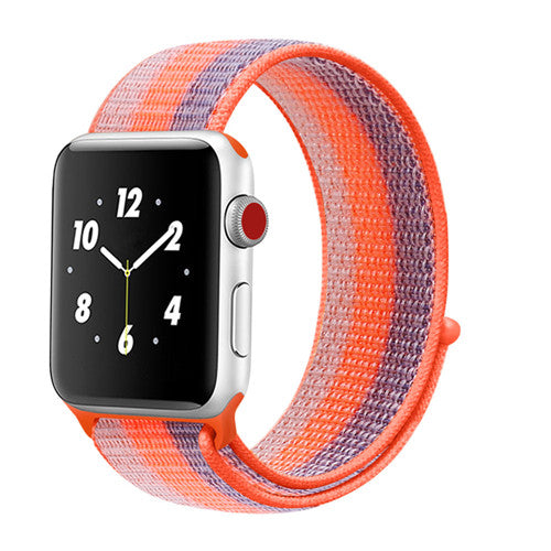 Woven Nylon Sport strap with hook & loop fastener - Multiple colors
