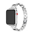 Rhinestone Diamonds & Stainless Steel Apple Watch Band - Multiple colors - WatchBand Co