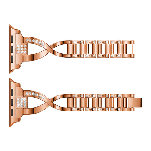 Rhinestone Diamonds & Stainless Steel Women's Strap - Multiple colors