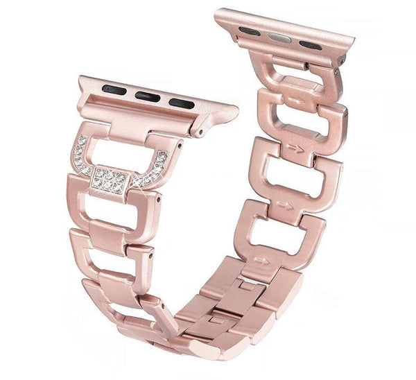 Stainless steel strap with Rhinestone diamonds - Multiple colors