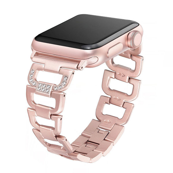 Stainless Steel Strap with Rhinestones for Apple Watch - Multiple colors - WatchBand Co