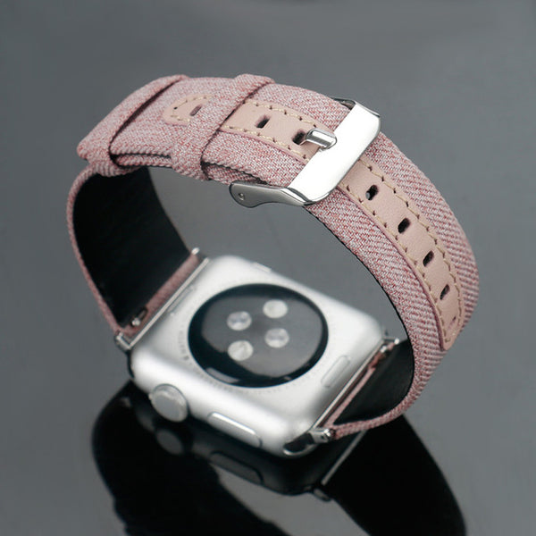 Leather + Canvas strap with classic metal buckle